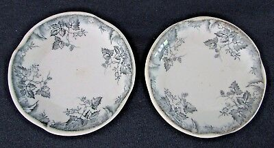 Butter Pats, Johnson Bros Brothers, HOP Pattern, Blue/Gray Flowers & Vines, 2