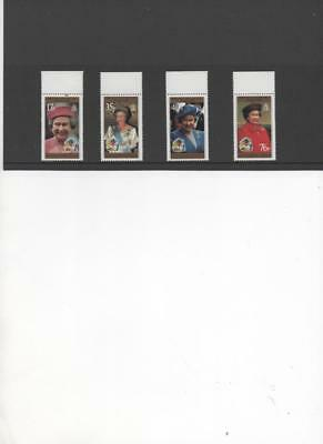 British Antarctic Territory 1996 Queen's 70th Birthday set of 4 MNH stamps