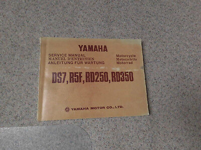 "Original Sercive manual Yamaha ""DS7, R5F, RD 250, RD 350"""