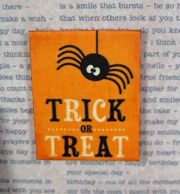 Dollhouse miniature halloween spider 1:12 sign SPOOKY trick or treat picture