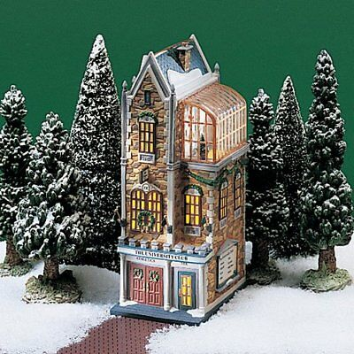 Dept 56 Christmas In the City UNIVERSITY CLUB EUC with Box #58945 2000 Retired