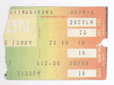 Rare Genesis 8/9/82 Los Angeles Forum Concert Ticket Stub! LA CA