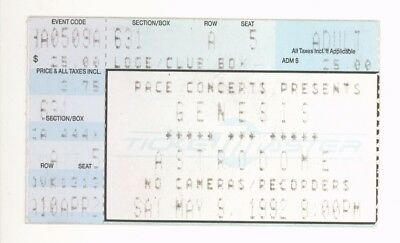 Rare Genesis 5/9/92 Houston TX Astrodome Concert Ticket Stub!