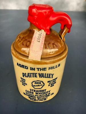 Platte Valley Straight Corn Whiskey Aged in the Hills McCormick~Vintage Jug.....