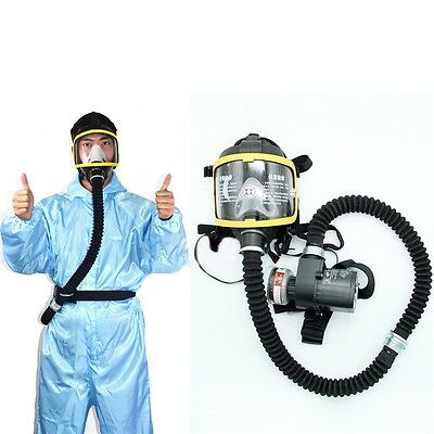 Electric Constant Flow Supplied Air Fed Full Face Gas Mask Respirator System
