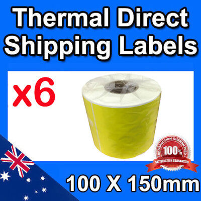 6x Thermal Label Rolls for Startrack Fastway Aus Post eParcel 350pcs/roll