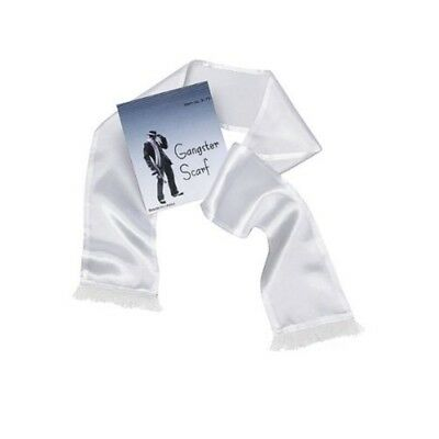 White Satin Gangster Scarf - Fancy Dress Accessory 1920s Costume