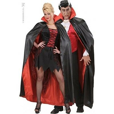 Children's Black - Red Lined Satin Capes 158cm Costume Large 11-13 Yrs (158cm)