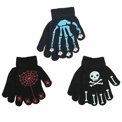 3 Pairs Kids Magic Gloves Halloween Thermal Gripper Palm Stretch One Size