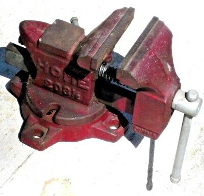 VINTAGE HOME VISE 3 1/2 INCH ANVIL with Swivel Base In Good Working Condition!
