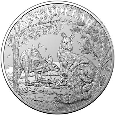 Australien - 1 Dollar 2019 - Känguru Seasons Change (4.) - 1 Oz Silber ST