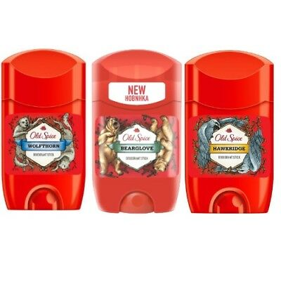 3er SET Old Spice Wild Collection Deo Stick Wild Range Serie WoW