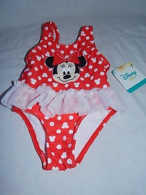 ca251b34e9bd7 NEW Minnie Mouse Figure One Piece Swimsuit Tutu Disney Baby Girls 3/6 9 12
