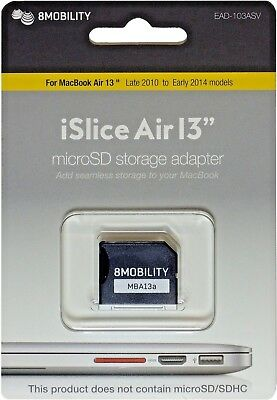 """8MOBILITY iSlice Micro SD Storage Adapter for MacBook Air 13"""" A1369 and A1466"""