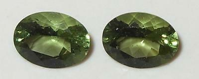 1.86ct Pair Faceted TOP QUALITY Natural Czechoslovakia Moldavite Oval Cut 8x6mm