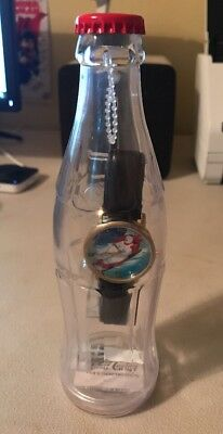 Never Opened Too Cool Coke Coca-Cola WATCH IN A BOTTLE w/ Polar Bear Face