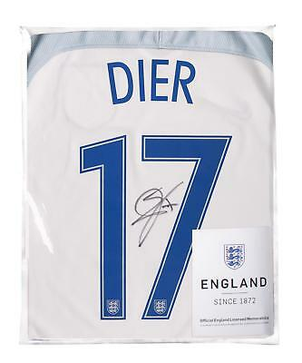 ad587fbd3 Eric Dier Official England Back Signed 2016-17 Home Shirt Autograph Jersey