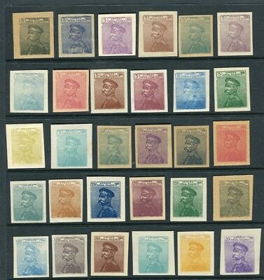 SERBIA; Early 1900s PROOFS/ESSAYS Mint varied group of values Papers/Colours