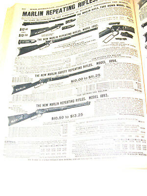 1902 Copy of Sears-Roebuck Some of Marlin & Winchester Repeating Rifles 1902