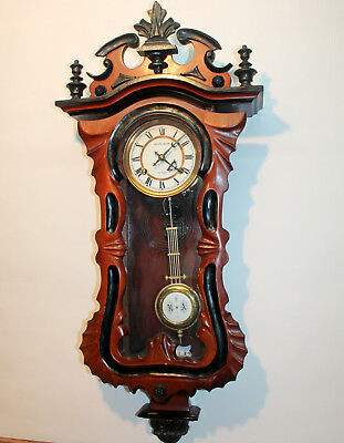 Old Wall Clock Regulator Chime clock 31 Day particular pieces