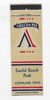 WWII Matchbook Cover V FOR VICTORY Euclid Beach Park Cleveland OH #706