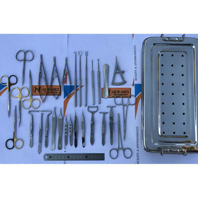 Blepharoplasty Set of 30 Pcs Reusable Eye Surgery Instruments German Stainless