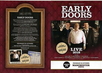 Early Doors, Live 2018, Manchester Arena. Flyer .
