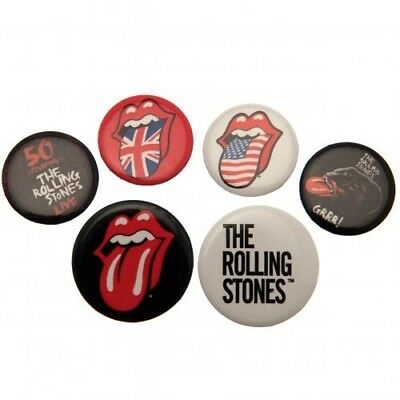 The Rolling Stones Six Button Badges Set with Free UK P&P