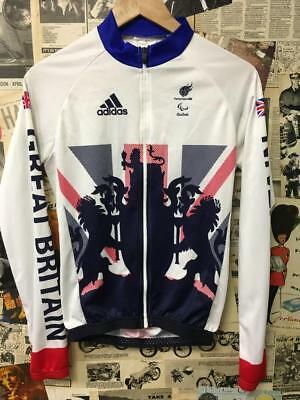 CYCLING Tracksuit Jacket Great Britain Paralympics GB 2016 Rio Adidas Small Mod