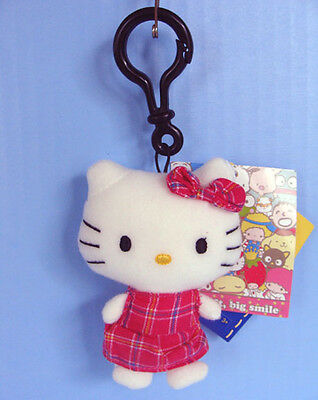 Build a Bear Workshop Tiny HELLO KITTY Clip Ring Furry Mascot Sanrio Friends