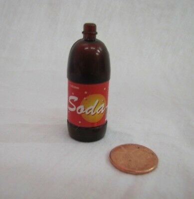 Dollhouse Miniature 2 LITER SODA POP BOTTLE for Loving Family Doll House Barbie