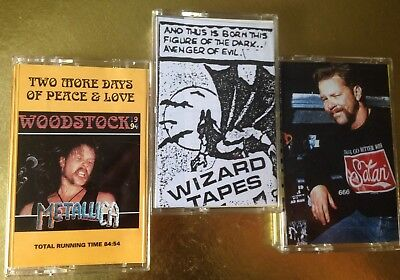 METALLICA STUTTGART DONINGTON WOODSTOCK CASSETTE TAPE TAPES x 3 LIVE