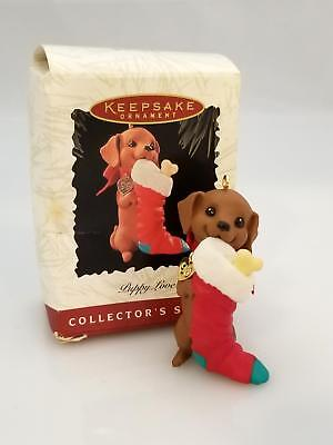 Hallmark Keepsake Series Ornament 1996 Puppy Love #6 - Dachshund - #QX5651-DB