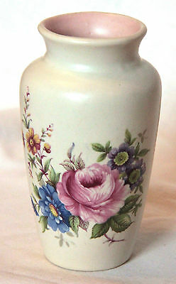 Vintage Small Floral Patterned Vase - Axe Vale Pottery
