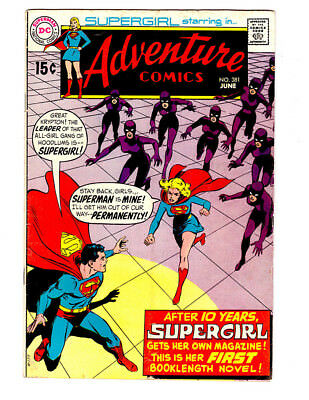 ADVENTURE COMICS #381 a 1969 DC comic Silver Age in VG/FN with SUPERGIRL