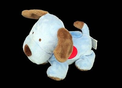 Carters Child of Mine Plush Dog Blue Red Brown Polka Dot Puppy Stuffed Animal 7""