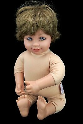 "My Twinn Doll Babies Toddler Baby 18"" Brown Wavy Hair & Blue Violet Eyes"