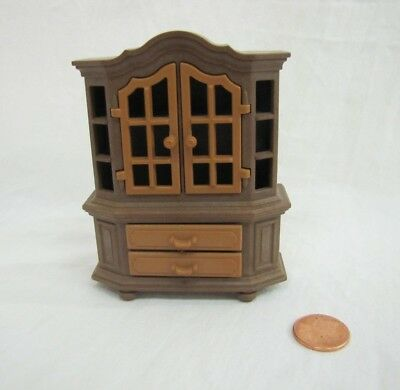 Vintage PLAYMOBIL BROWN DINING ROOM HUTCH CHINA CABINET Victorian Mansion #5300
