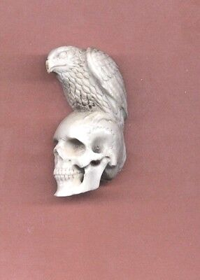 Eagle On Skull  Statue Figurine Hand Carved   505