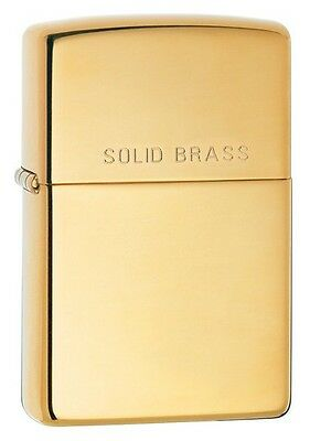 Zippo 254, High Polish Brass Finish Lighter, Pipe Insert (PL)