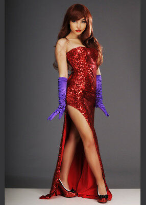 7fd617d5914b FORPLAY SEXY ROGER Who Jessica Rabbit Red Sequin Strapless Bodysuit ...