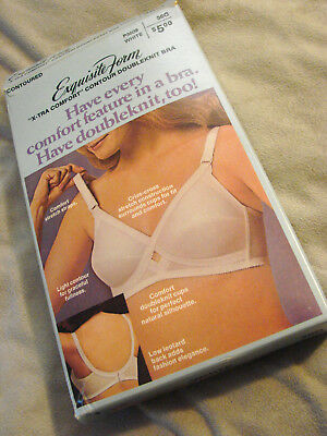 Vintage 60s 70s Bra 36 C NOS Padded Soft Cup +Box Dbl Knit Cups Exquisite Form