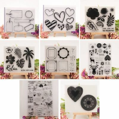 NEW Clear Silicone Stamp Cling Seal DIY Scrapbook Embossing Album Decor Craft