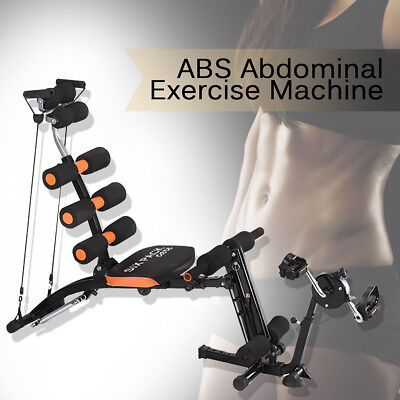 6 in 1 Adjustable Fitness Workout Weight Bench Press Home Gym Exercise Training