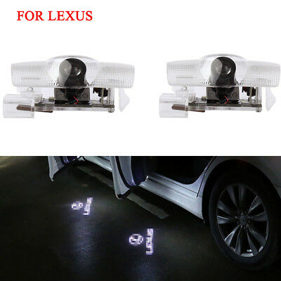 2x LED Door Step Courtesy Laser Projector Welcome Lights For Lexus IS ES LS RX