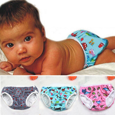 Newborn Toddler Kid Swim Nappy Baby Cover Diaper Pants Nappies Swimmers Reusable