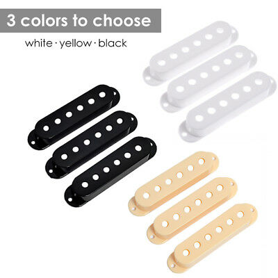 3 Pcs Single Coil Pickup Covers for Fender Stratocaster Guitar Parts