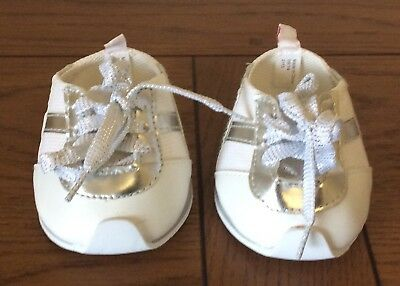Build a Bear Sneakers White n Silver Sneakers