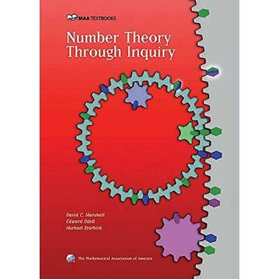 Number Theory Through Inquiry (Classroom Resource Mater - Hardcover NEW Marshall