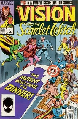 Vision and the Scarlet Witch (2nd Series) #6 1986 FN Stock Image